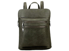 A-SHU PLAIN MULTI COMPARTMENT BACKPACK - DARK GREY - A-SHU.CO.UK