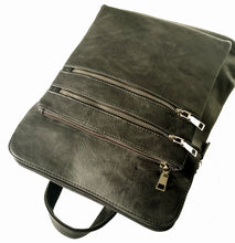 PLAIN MULTI COMPARTMENT BACKPACK - DARK GREY