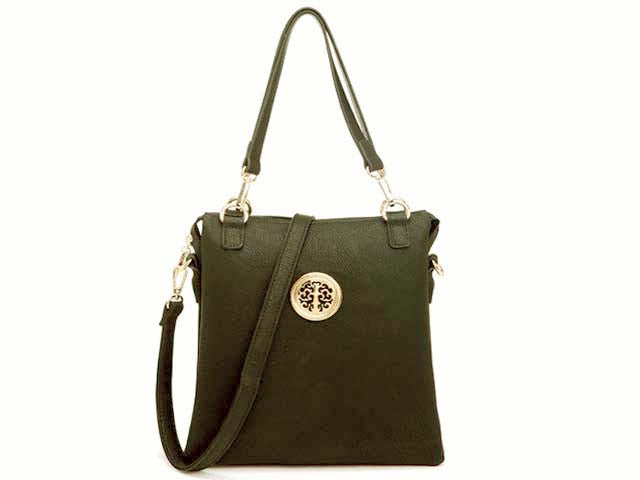 A-SHU LARGE GREY MULTI POCKET HANDBAG WITH LONG CROSS BODY STRAP - A-SHU.CO.UK