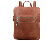 A-SHU PLAIN MULTI COMPARTMENT BACKPACK - BLUSH PINK - A-SHU.CO.UK