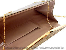 LARGE DEEP PINK METALLIC ENVELOPE CLUTCH BAG WITH LONG CHAIN STRAP