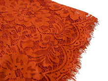 LARGE ORANGE RUST LACE DETAIL LIGHTWEIGHT SCARF