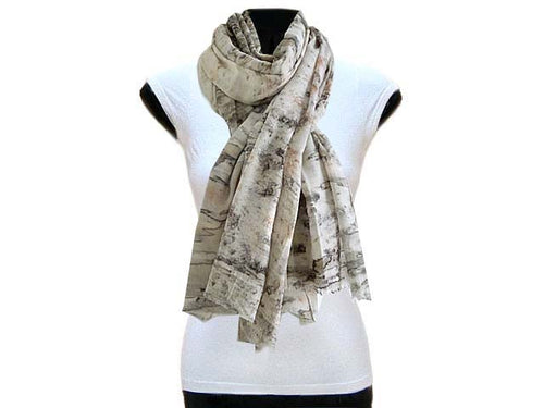 LARGE PALE GREY AND BLUSH PINK MARBLE PRINT LIGHTWEIGHT SCARF