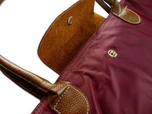 A-SHU LARGE PART GENUINE LEATHER MAROON FOLD-AWAY TRAVEL SHOPPER TOTE HANDBAG - A-SHU.CO.UK
