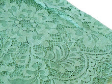 LARGE PASTEL GREEN LACE DETAIL LIGHTWEIGHT SCARF