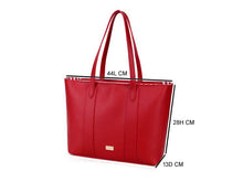 A-SHU LARGE PLAIN RED TOTE HANDBAG WITH STRIPE INTERIOR - A-SHU.CO.UK