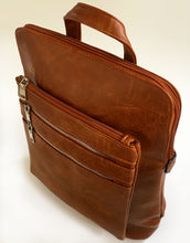 PLAIN MULTI COMPARTMENT BACKPACK - TAN