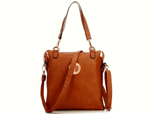 ORDER BY REQUEST - LARGE TAN MULTI POCKET HANDBAG WITH LONG CROSS BODY STRAP