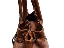 A-SHU LARGE TAN TEXTURED LEATHER EFFECT TOTE HANDBAG WITH LONG SHOULDER STRAP - A-SHU.CO.UK