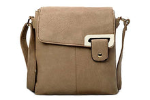 A-SHU LARGE TAUPE BEIGE MULTI POCKET CROSS BODY MESSENGER BAG - A-SHU.CO.UK