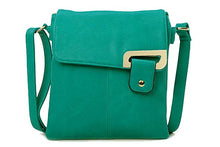 A-SHU LARGE TURQUOISE MULTI POCKET CROSS BODY MESSENGER BAG - A-SHU.CO.UK