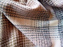 LARGE WOOL MIX THICK CHECKED SHAWL - PINK
