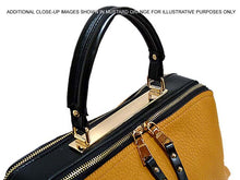 A-SHU BLACK LEATHER EFFECT MULTI-COMPARTMENT HANDBAG WITH LONG SHOULDER STRAP - A-SHU.CO.UK