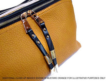 BRONZE BLUSH LEATHER EFFECT MULTI-COMPARTMENT HANDBAG WITH LONG SHOULDER STRAP