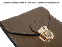 TAN LEATHER EFFECT SLIM LINE PHONE POUCH / CROSS BODY BAG WITH LONG STRAP