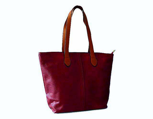 A-SHU BURGUNDY MAROON SMALL TOTE SHOULDER HANDBAG - A-SHU.CO.UK