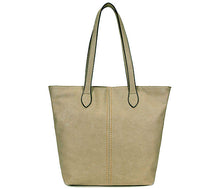 A-SHU LIGHTWEIGHT LARGE LIGHT GREY FAUX LEATHER TOTE HANDBAG - A-SHU.CO.UK