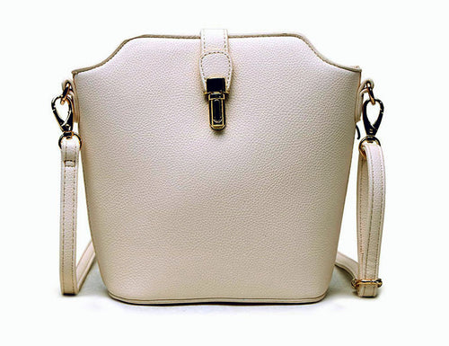 LIGHT GREY CROSS BODY BAG WITH LONG OVER SHOULDER STRAP