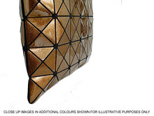 A-SHU GOLD LUMINOUS LASER CUT HOLOGRAPHIC GEOMETRIC TOTE HANDBAG - A-SHU.CO.UK