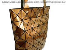 PINK LUMINOUS LASER CUT HOLOGRAPHIC GEOMETRIC TOTE HANDBAG