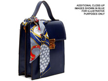 A-SHU MULTI-COMPARTMENT GREY CROSS-BODY HOLDALL HANDBAG WITH SCARF ATTACHMENT - A-SHU.CO.UK
