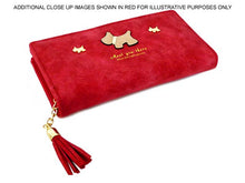 LIGHT PINK MULTI-COMPARTMENT DOG PURSE WALLET WITH TASSEL