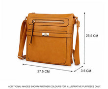 A-SHU TAN MULTI COMPARTMENT CROSS BODY SHOULDER BAG - A-SHU.CO.UK
