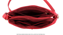A-SHU BURGUNDY PLUM MULTI COMPARTMENT OVER SHOULDER CROSS BODY BAG - A-SHU.CO.UK