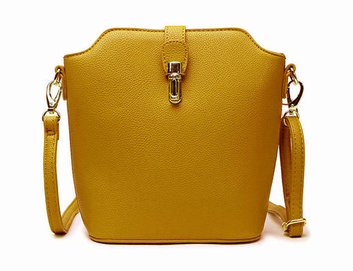 MUSTARD YELLOW CROSS BODY BAG WITH LONG OVER SHOULDER STRAP