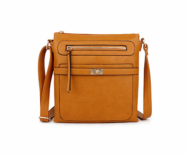 A-SHU MUSTARD YELLOW MULTI COMPARTMENT CROSS BODY SHOULDER BAG - A-SHU.CO.UK