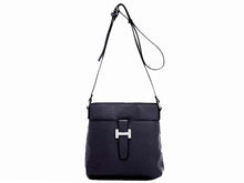 NAVY BLUE MULTI POCKET CROSS BODY MESSENGER BAG