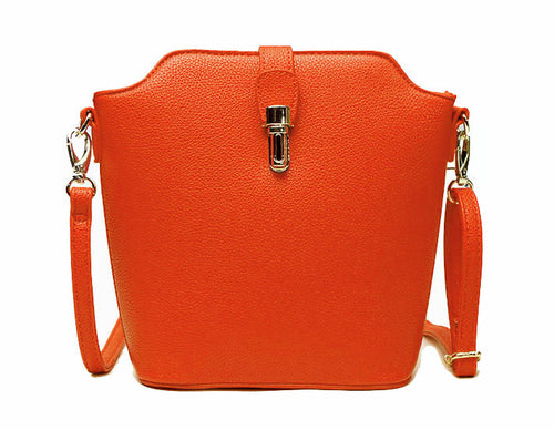 ORANGE CROSS BODY BAG WITH LONG OVER SHOULDER STRAP