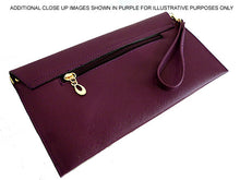 PINK OVER-SIZED ENVELOPE CLUTCH BAG WITH LONG CROSS BODY AND WRISTLET STRAPS