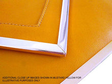 OVERSIZED ORANGE METAL ENVELOPE CLUTCH BAG WITH LONG CHAIN SHOULDER STRAP