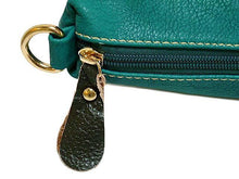 A-SHU 4 PIECE TURQUOISE PART LEATHER TOTE SET WITH INTERNAL BAG, PURSE AND LONG STRAP - A-SHU.CO.UK