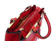 A-SHU ORDER BY REQUEST - DESIGNER STYLE LIGHTWEIGHT RED MULTI-COMPARTMENT HOLDALL HANDBAG WITH LONG STRAP - A-SHU.CO.UK