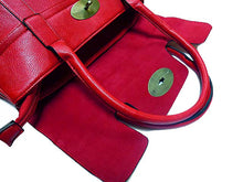 RED LEATHER EFFECT CLASSIC HANDBAG WITH TWIST-LOCK CLOSURE