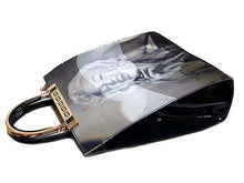 A-SHU BLACK 3D DESIGN MARILYN MONROE HOLDALL HANDBAG WITH LONG STRAP - A-SHU.CO.UK