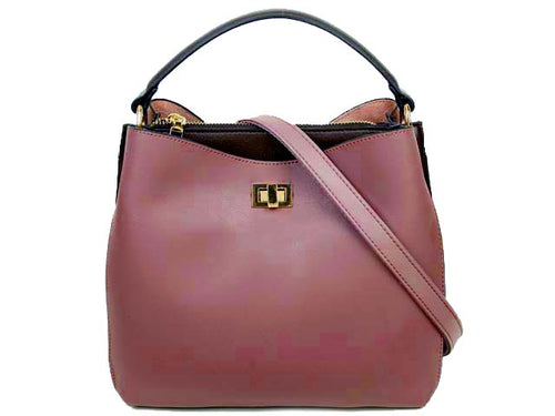 A-SHU PURPLE SLIM-LINE MULTI-COMPARTMENT HOLDALL HANDBAG WITH LONG SHOULDER STRAP - A-SHU.CO.UK