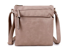 A-SHU PLAIN BEIGE MULTI COMPARTMENT CROSS BODY SHOULDER BAG - A-SHU.CO.UK