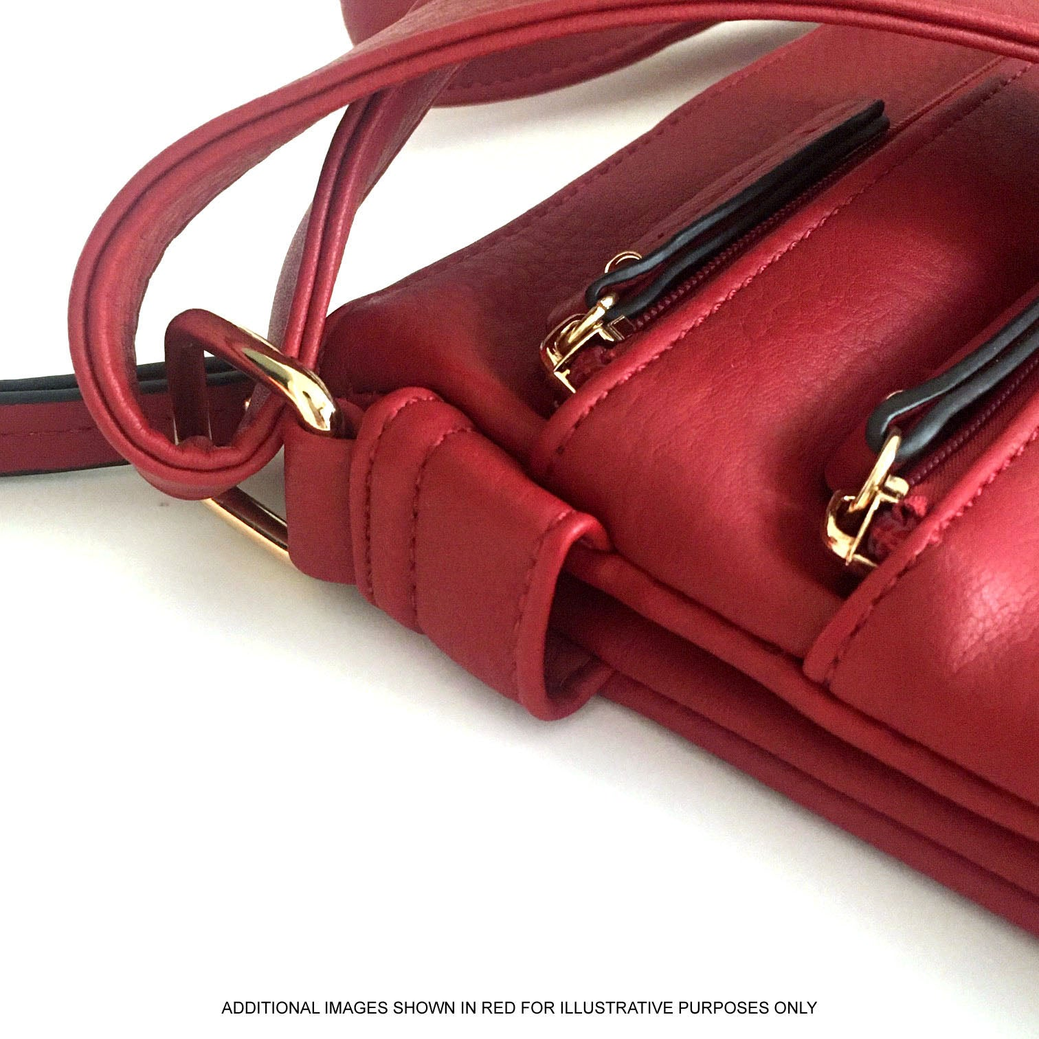 A-SHU PLAIN BURGUNDY MULTI COMPARTMENT CROSS BODY SHOULDER BAG - A-SHU.CO.UK