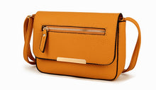 A-SHU PLAIN MUSTARD YELLOW MULTI COMPARTMENT CROSS BODY SATCHEL BAG - A-SHU.CO.UK