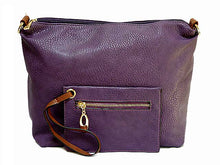 PURPLE 2 PIECE TOILETRY / TRAVEL BAG SET WITH MATCHING PURSE