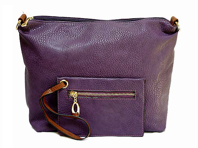 A-SHU PURPLE 2 PIECE TOILETRY / TRAVEL BAG SET WITH MATCHING PURSE - A-SHU.CO.UK