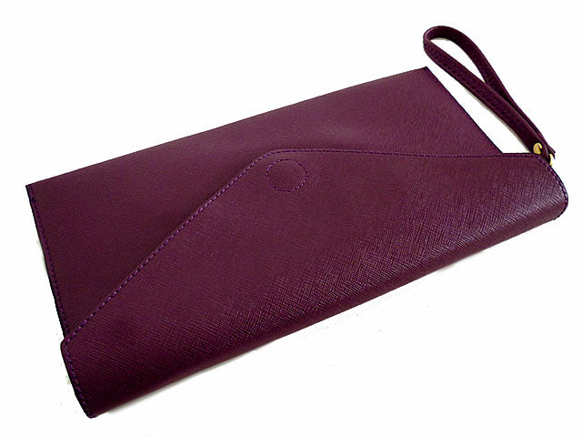d740f1a880f ... PURPLE OVER-SIZED ENVELOPE CLUTCH BAG WITH LONG CROSS BODY AND WRISTLET  STRAPS ...