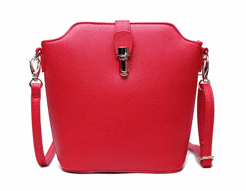 RED CROSS BODY BAG WITH LONG OVER SHOULDER STRAP