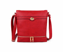 A-SHU RED MULTI COMPARTMENT OVER SHOULDER CROSS BODY BAG - A-SHU.CO.UK