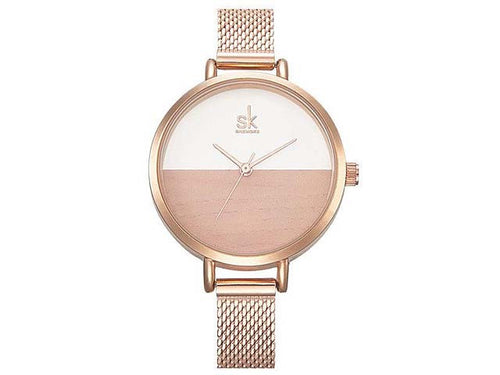 ROSE GOLD WATCH WITH MESH BAND STRAP