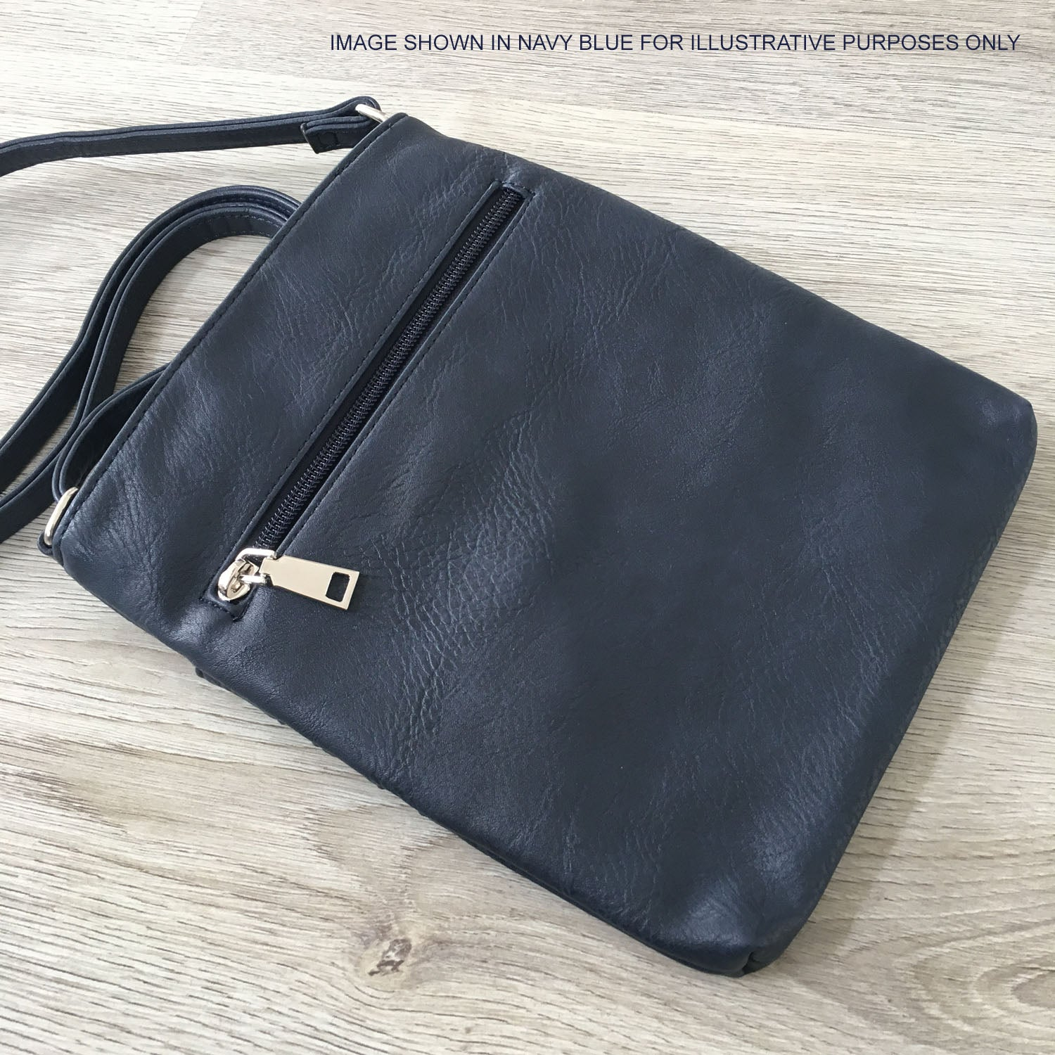 BLACK SLIM MULTI POCKET CROSS BODY BAG WITH LONG SHOULDER STRAP