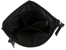 A-SHU BLACK SLIM MULTI POCKET CROSS BODY BAG WITH LONG STRAP - A-SHU.CO.UK